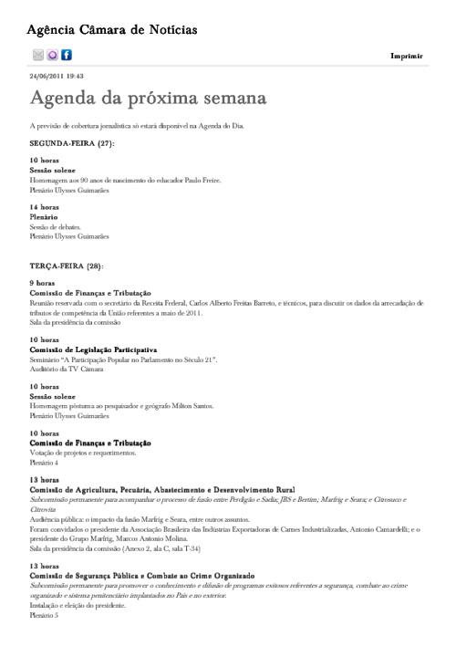 Agenda Câmara