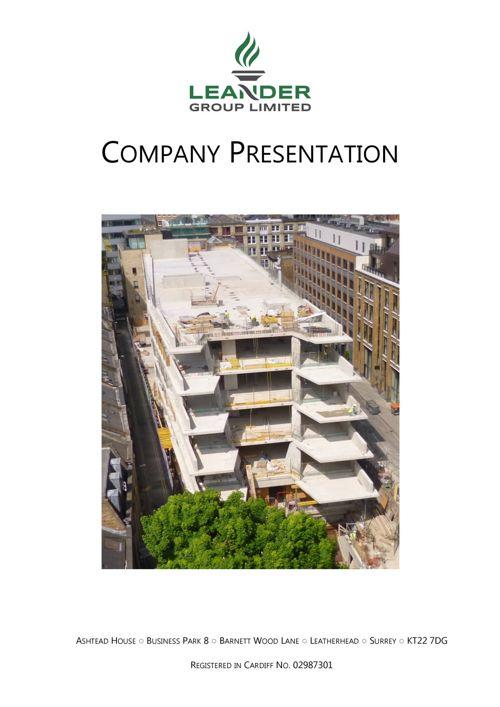 Leander Construction Presentation