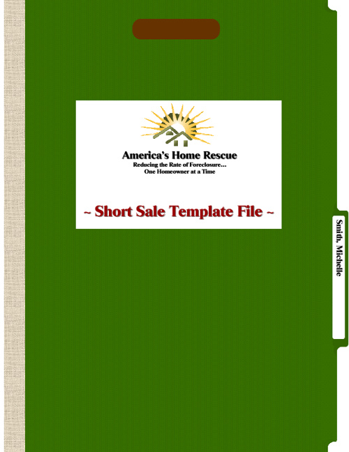 Short Sale Template File