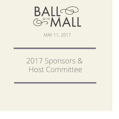 2017 BALL for THE MALL - Sponsors and Committee