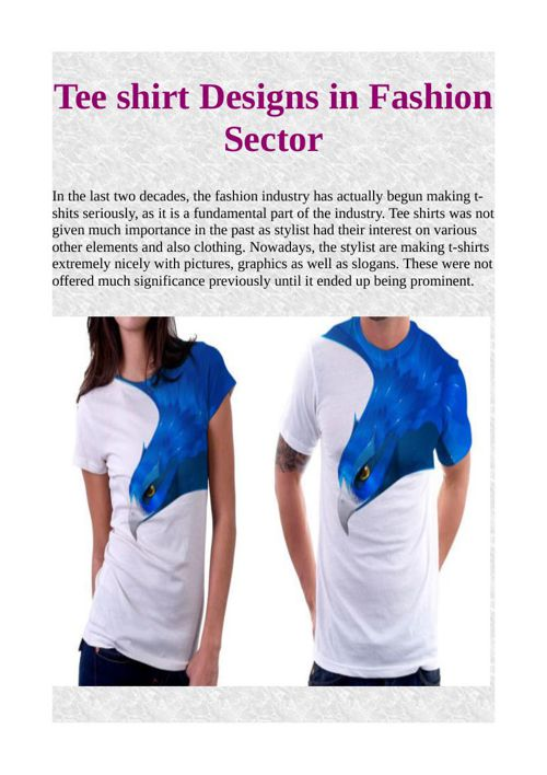 Tee shirt Designs in Fashion Sector