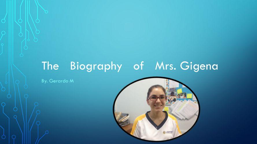 Gerardo Moreno - Ms. Gigena