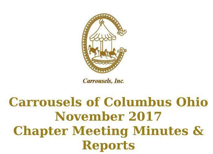 Carrousels of Columbus Ohio November Chapter Meeting Minutes