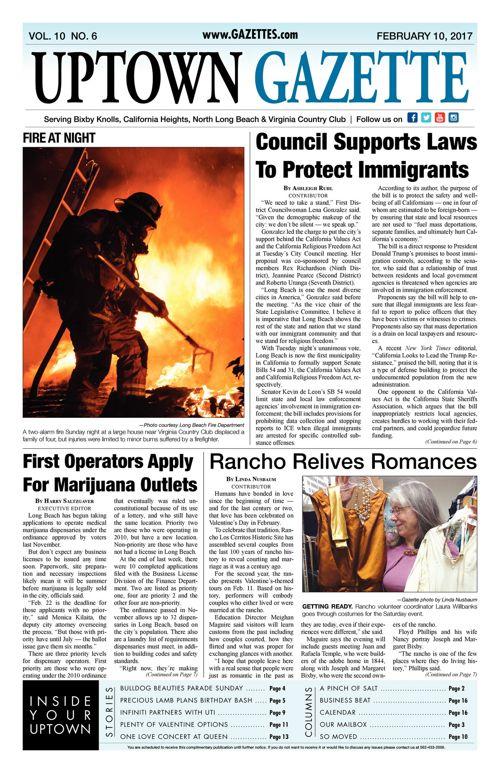 Uptown Gazette  |  February 10, 2017