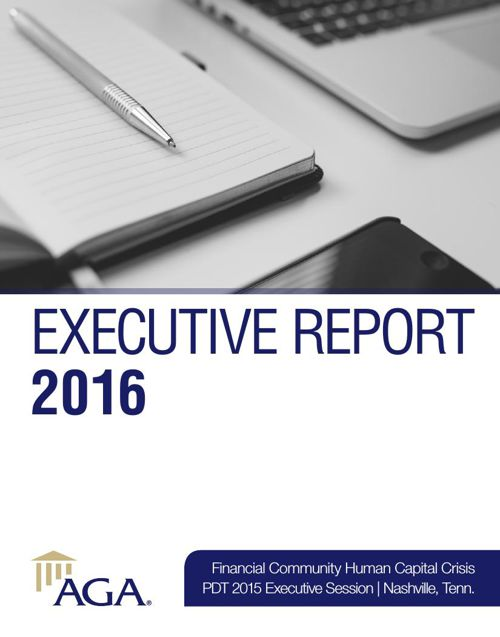Executive Report 2016: Financial Community Human Capital Crisis