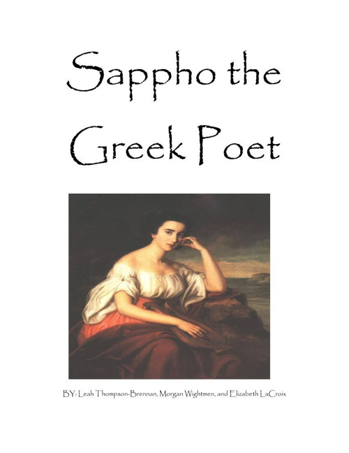 Copy of Sappho the Greek Poet