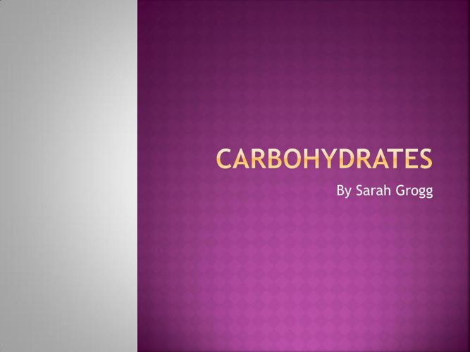 Carbohydrates project jpg