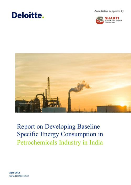 Specific Energy Consumption in Petrochemicals Industry in India