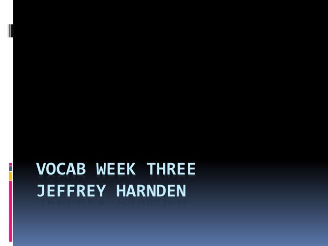 Week3Vocab