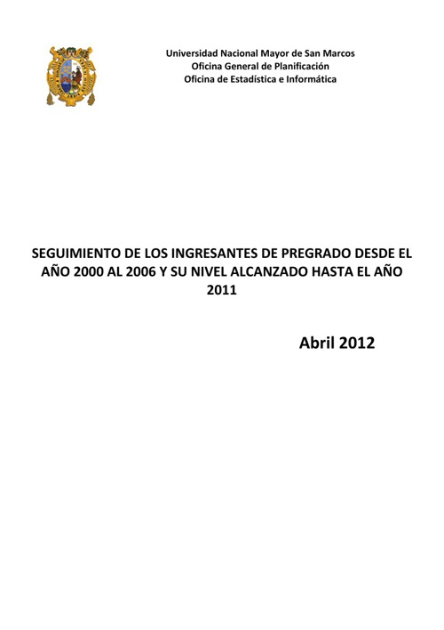 Copy of Informe Final de  Egresados UNMSM 2000 - 2005