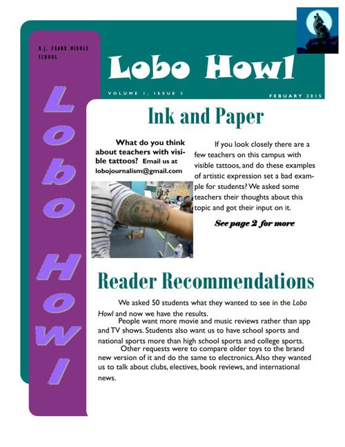 February edition of The Lobo Howl