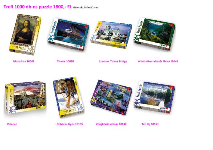 Trefl puzzle 1000 db-os