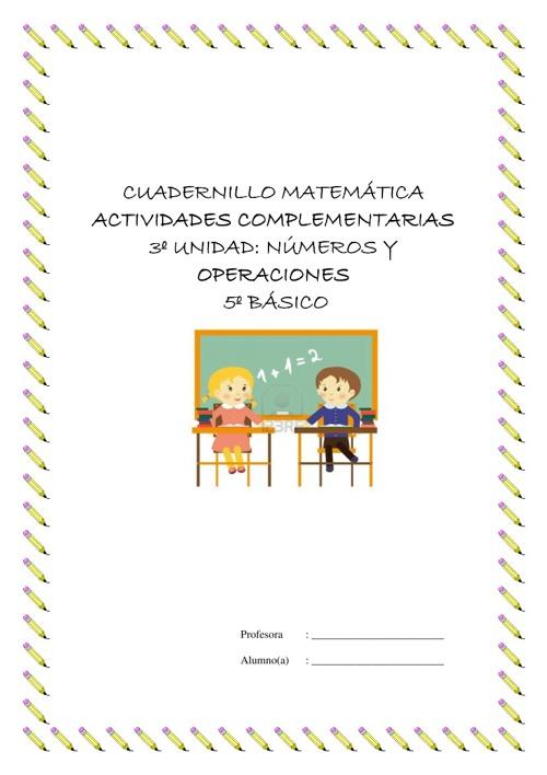 Cuadernillo de actividades Complementarias  Unidad 3.