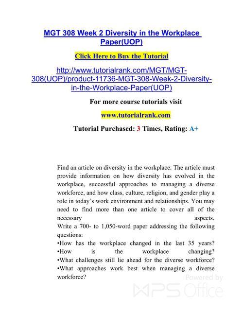 MGT 308 UOP Courses /TutorialRank