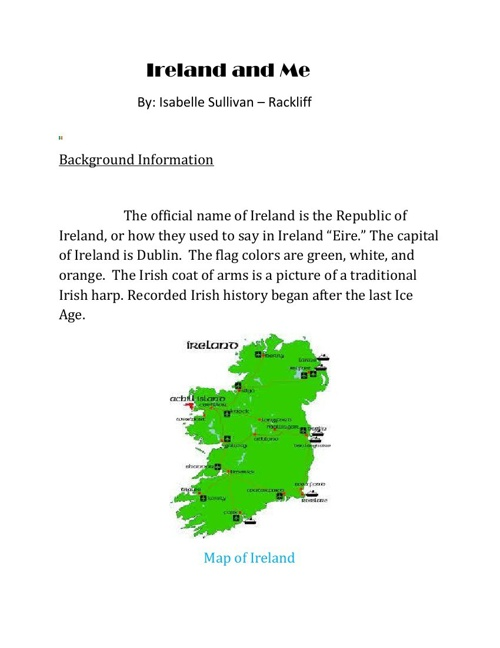 Ireland and Me