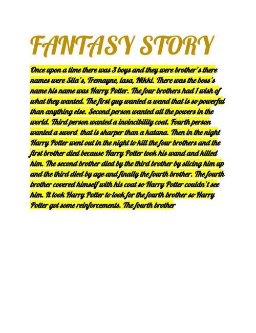 lasaMyFantasyStory