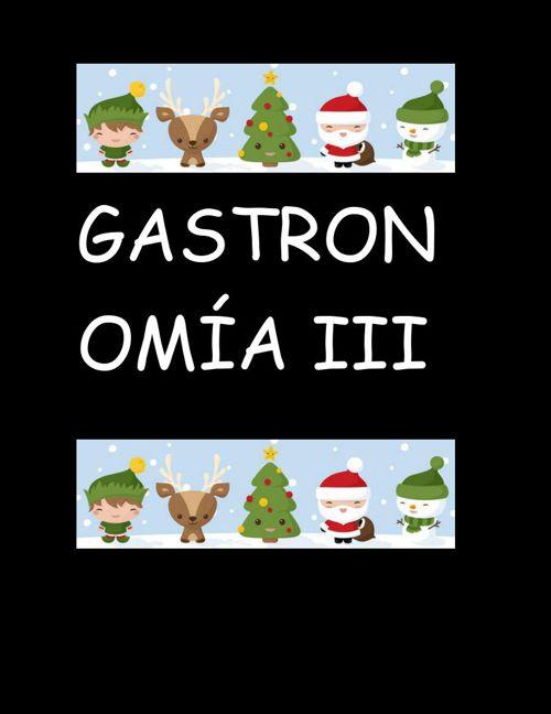 Recetario GASTRONOMIA III MITZI PEREZ MINGO