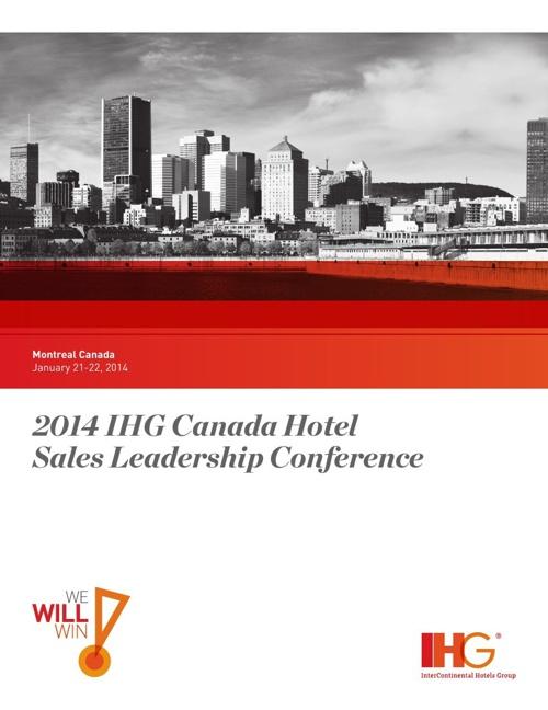2014 IHG Canada Hotel Sales Leadership Conference