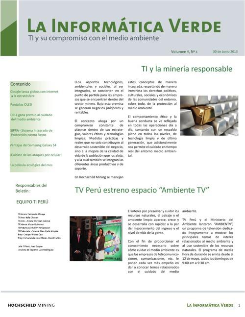 Boletín la Informática Verde - Junio