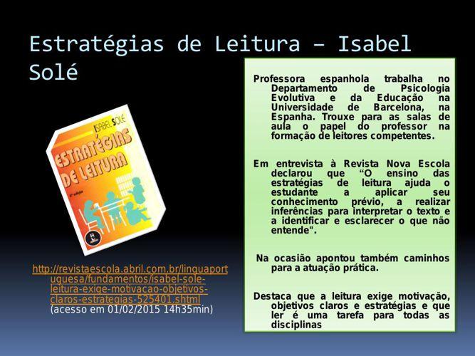 1 Estratégias de Leitura – Isabel Solé