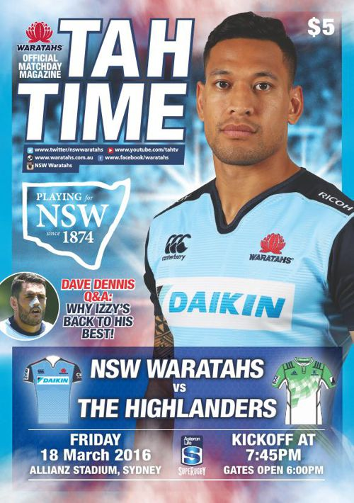 TAHS V HIGHLANDERS MATCH PROGRAM