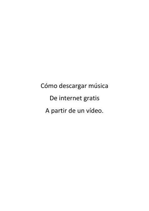 Copy of Cómo descargar música de youtube