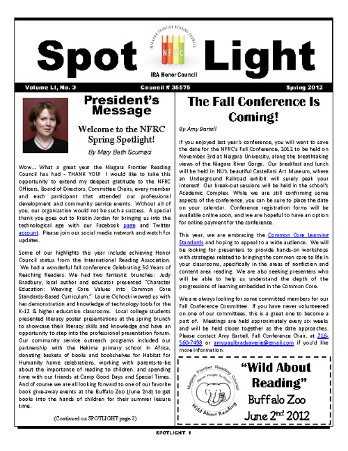NFRC Digital Spotlight - Spring 2012