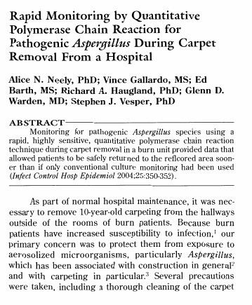 Monitoring Aspergillus Molds in Hospital