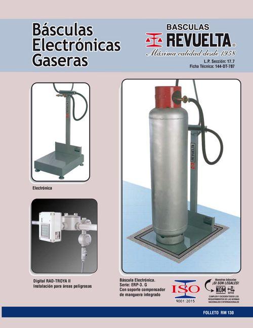 RM 130 BÁSCULAS ELECTRÓNICAS GASERAS
