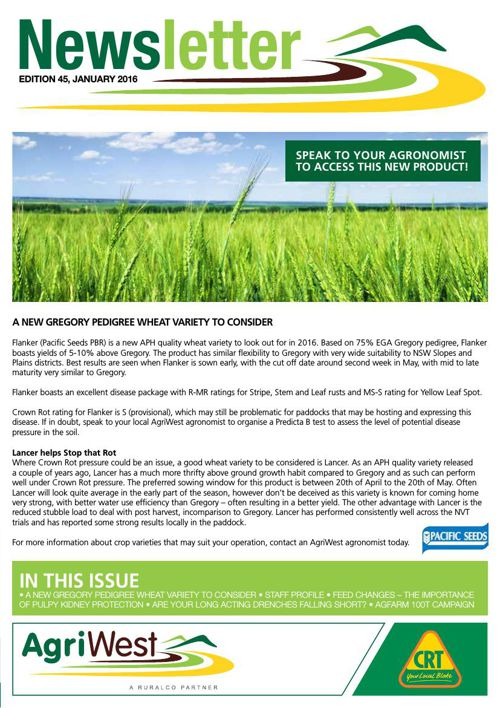 AgriWest: January Newsletter