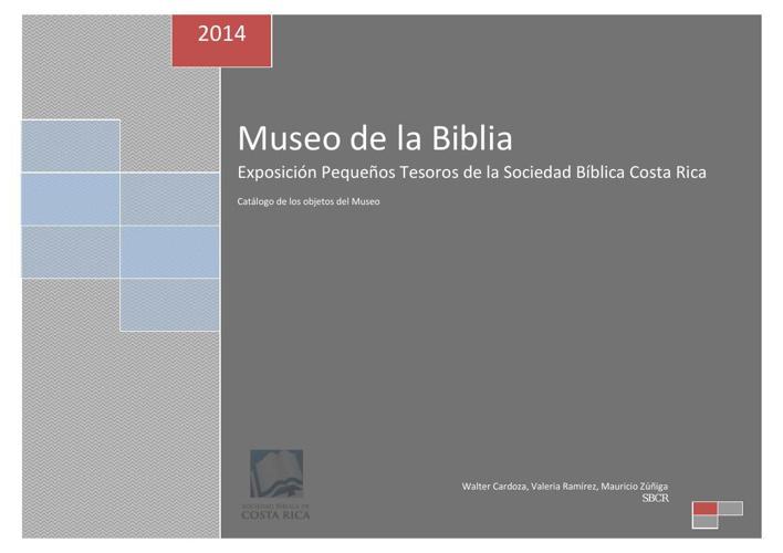 Ficha de registro Museo de la Biblia 2