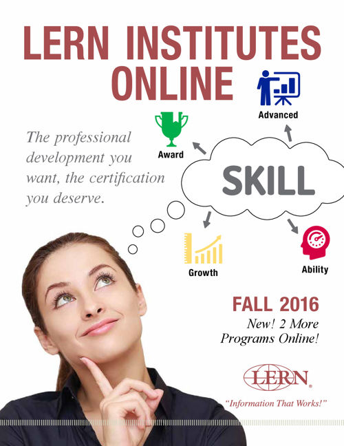 LERN Institutes Online Fall 2016