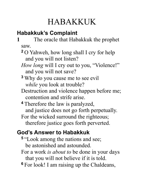 Book Of Habakkuk