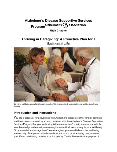 Caregiver Workbook