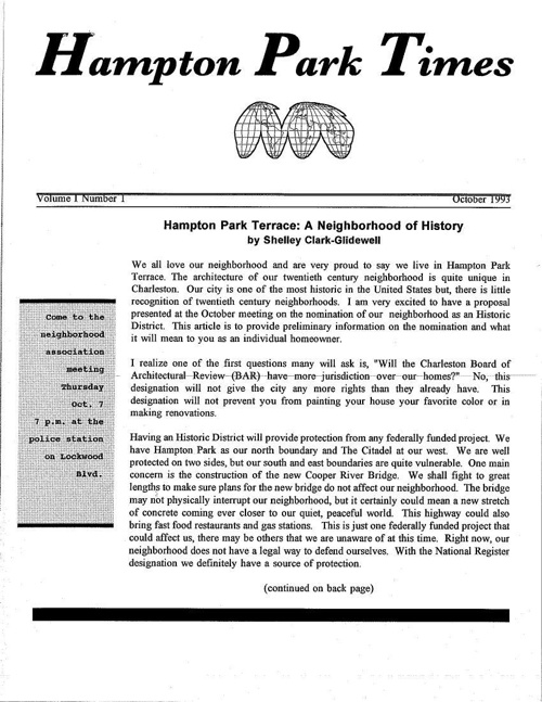 HPT Newsletter October 1993