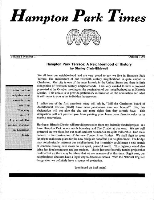 HPT Newsletter October 1993