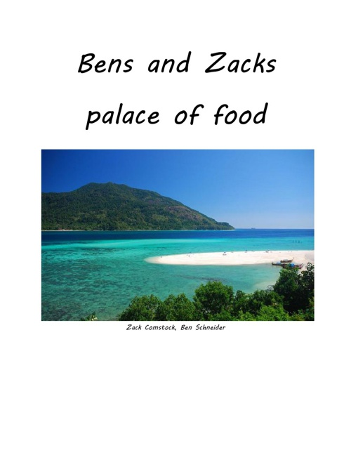 East Asia food project, Ben and Zacks