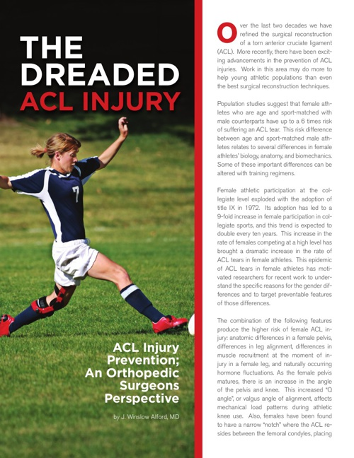 Copy of The Dreaded ACL Injury