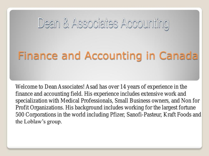 Finance and Accounting in Canada