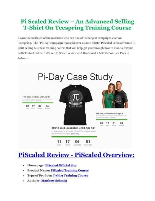 PRO review of Pi Scaled and Special $10,000 Bonus pack