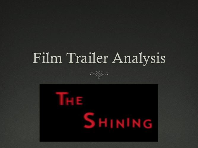 The Shining film trailer analysis