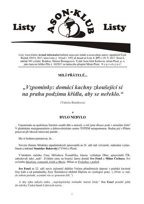 Listy Ason-klubu 10/2017