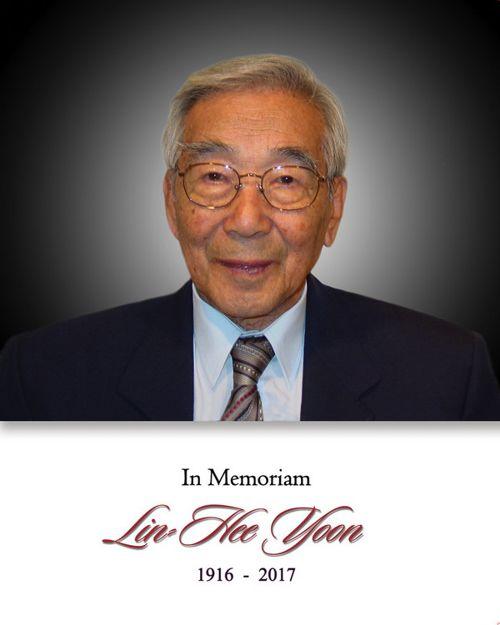 Memorial Card for Mr. Lin-Hee Yoon