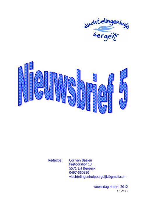 Nieuwsbrief 5