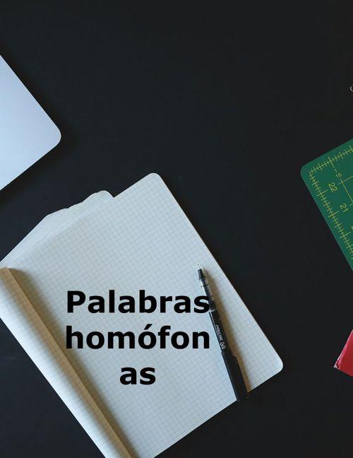 Homófonos de las grafías