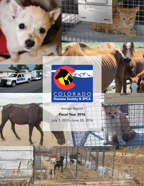 2016 Colorado Humane Society Annual Report