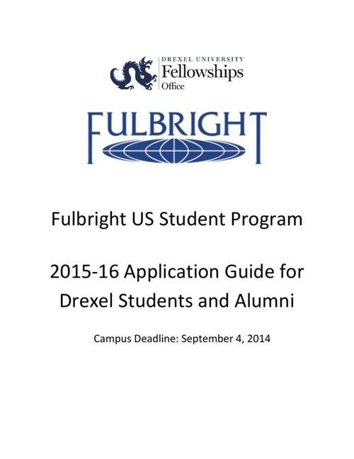 2015-16 Fulbright Handbook