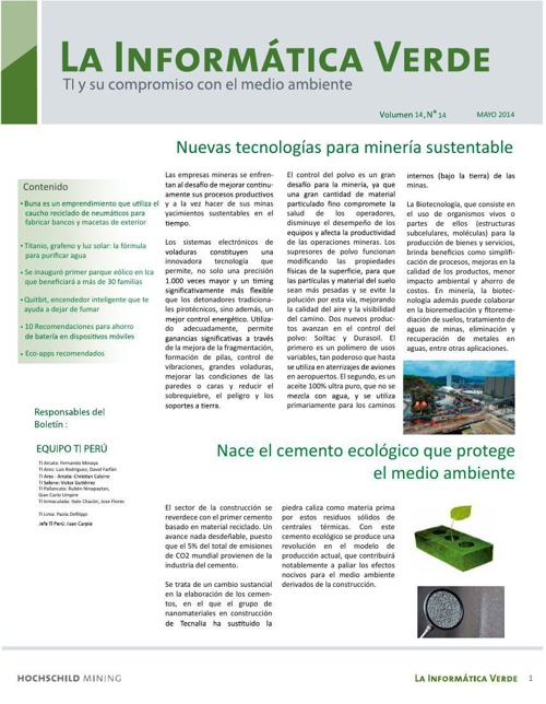 La Informática Verde 2014 (Mayo)