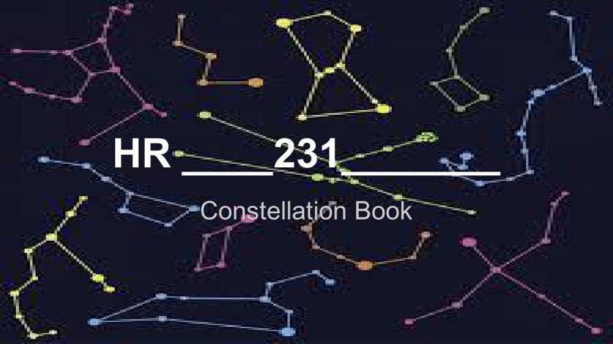 Class Constellation Book HR 231 (1)