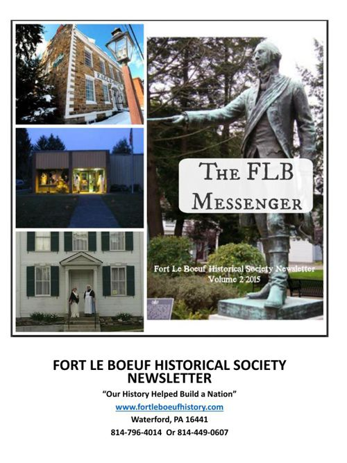 Fort Le Boeuf Historical Society Newsletter-Volume 2 2015